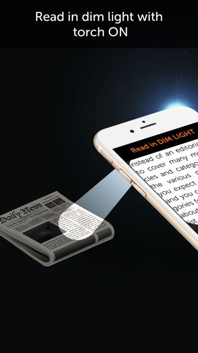 Magnifier Flash - A magnifying glass with light Screenshot