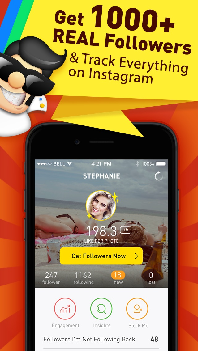 download Followers Powers for Instagram - free follow and unfollow tracker app appstore review