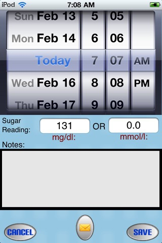 Diabetic Tracker Unlimited - Track your sugar level daily ( both mg/dl and mmol/L ) screenshot 3