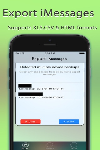 Export Messages - Save Print Backup Recover SMS screenshot 3