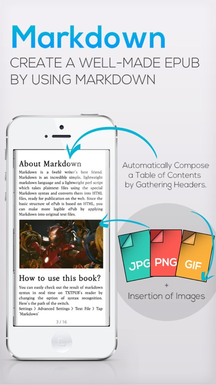 TXTPUB - eBook Reader + TXT to EPUB + MARKDOWN to EPUB Converter + TTS by  Park Kihyoung