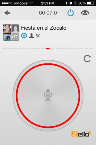 Zello Walkie Talkie screenshot 1