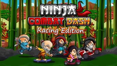 Ninja боевой Выполнить гоночный издание (Ninja Combat Dash Racing Edition) - Бесплатный самурай воин дорога ралли велосипед, автомобиль и скейтборд гонкиСкриншоты 1