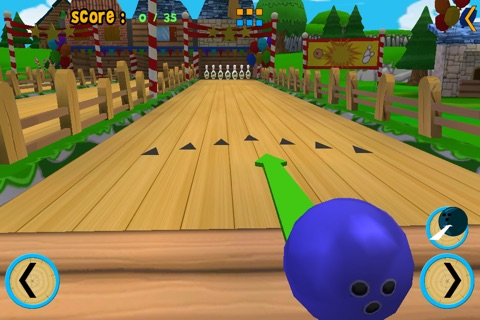 jungle animals and bowling for kids - no ads screenshot 2