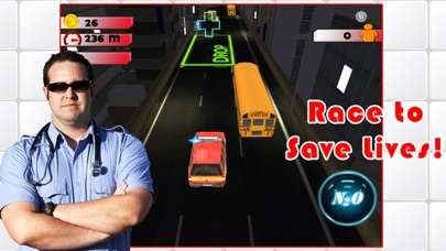 3D Rescue Racer Traffic Rush - Ambulance, Fire Truck Police Car and Emergency Vehicles : FREE GAMEСкриншоты 1