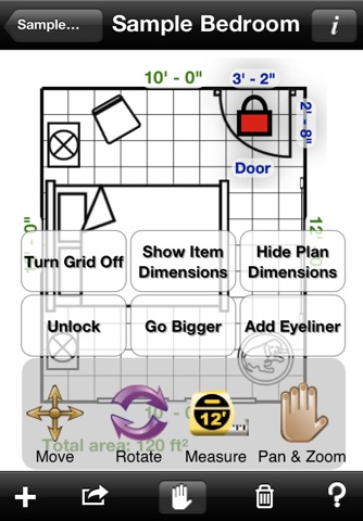 Home Design DIY Interior Room Layout Space Planning & Decorating Tool - Mark On Call for iPhone screenshot 4
