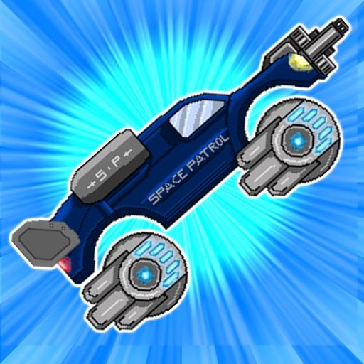 Retro Shooting Monster Truck In Space Racing Game iOS App