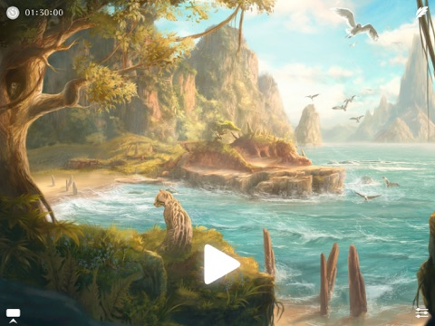 Screenshot #4 for Sunny ~ Calm wave & ocean sounds to Sleep Relax Meditate on the beach with rain and sea birds
