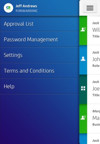 CA Identity Manager screenshot 1
