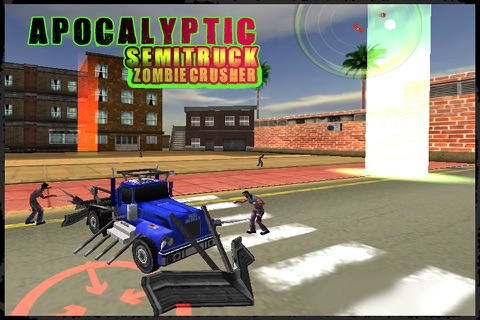 Apocalyptic SemiTruck Zombie Crusher screenshot 3