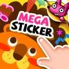 Mega Sticker Book for Kids
