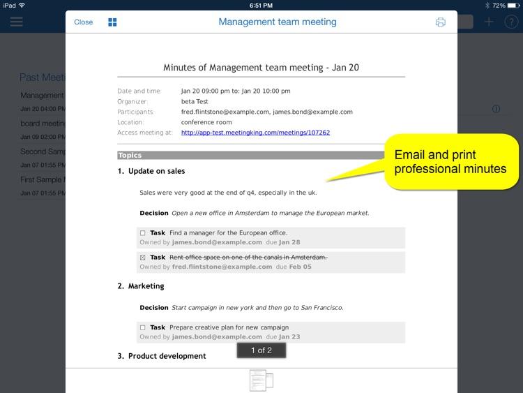 meetingking meeting agenda notes minutes tasks by paracas