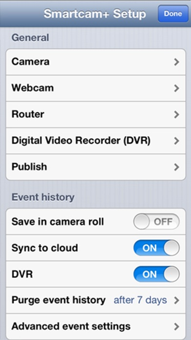 iVigilo Smartcam - Audio Video Überwachung Screenshot
