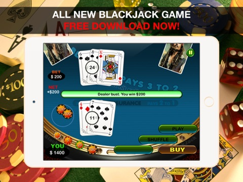 Aarghh! PIRATE BAY BlackJack - Play the Online Monte Carlo Casino Card Game with Real Las Vegas Odds for Free !-ipad-3