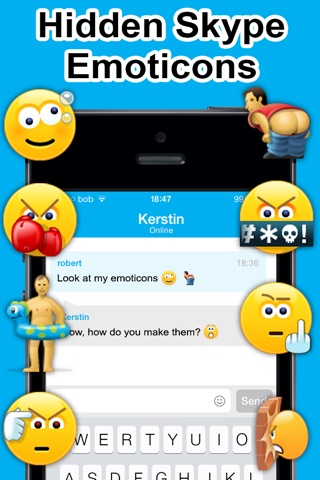 Secret Smileys for Skype - Hidden Emoticons for Skype Chat - Emoji screenshot 1
