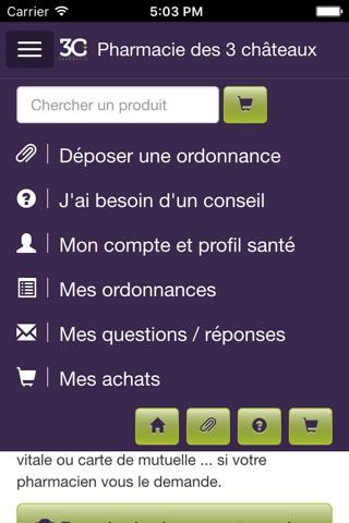 Pharmacie des 3 châteaux screenshot 2