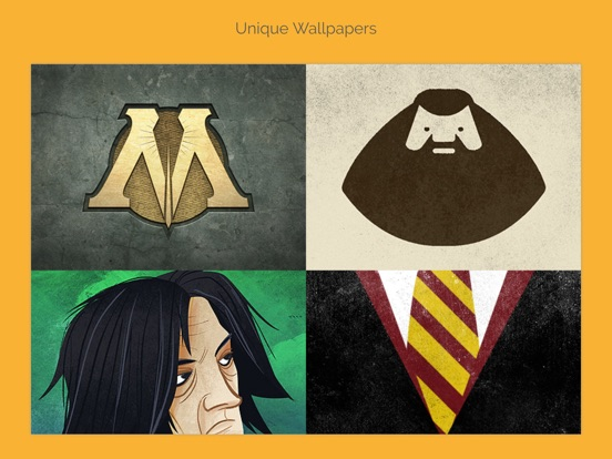 Screenshots of Unique Wallpapers for Harry Potter + Emoji Stickers, Instagram Filters and Fan Art for iPad