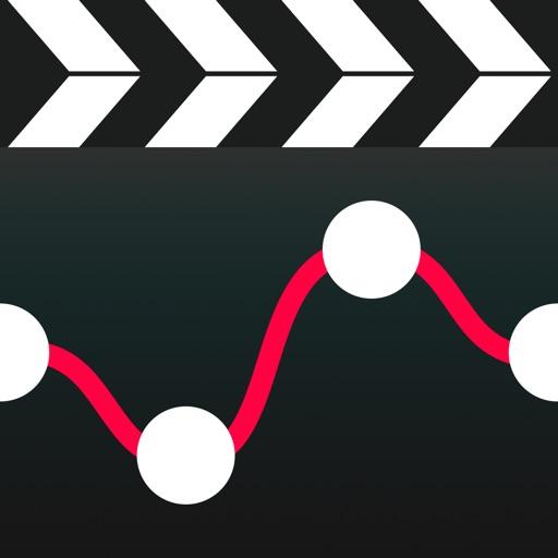 ビデオの高速化&低速化 - ムービークリップのセクションをスローモーションに編集