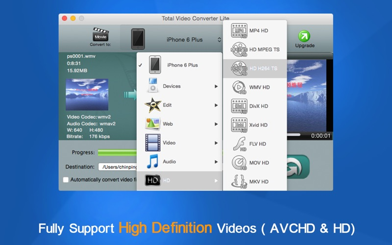 Screenshot #3 for Total Video Converter Lite - Totally Free to Convert Any Format