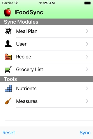 iFoodSync screenshot 1