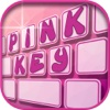 Pink Keyboard Maker – Custom Color Keyboard with Cute Backgrounds and Font Changer with Emoji.s