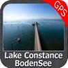 Bodensee GPS Navi Karte für bootfahren angeln und segeln