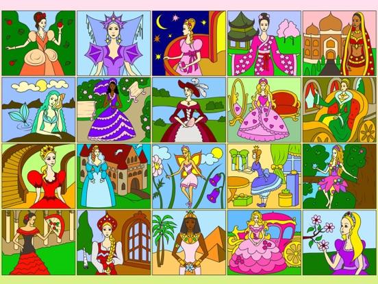 Раскрась по номерам - Принцессы на iPad