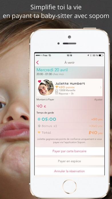 Sopom - baby sitterCapture d'écran de 1