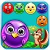 Cute Bird Bubble Rescue Mania bubble birds