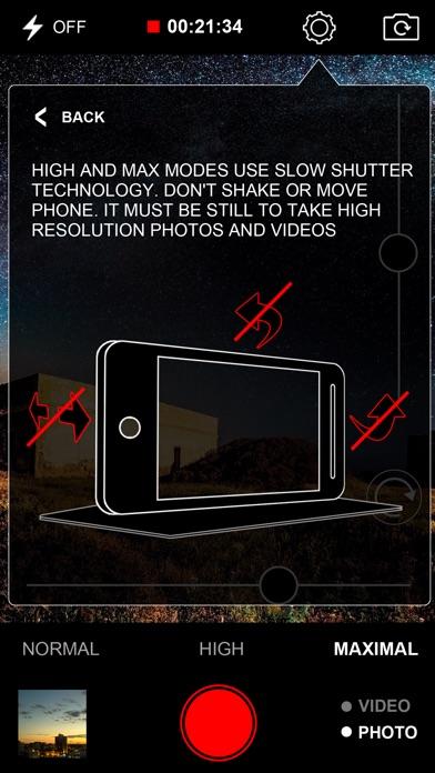 Slow Shutter Video Camera (Night Capture) Screenshots