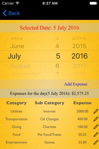 Monthly Expenses screenshot 2