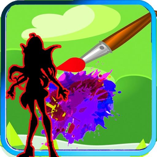 Color Book Game Cartoon Winx Club Edition iOS App