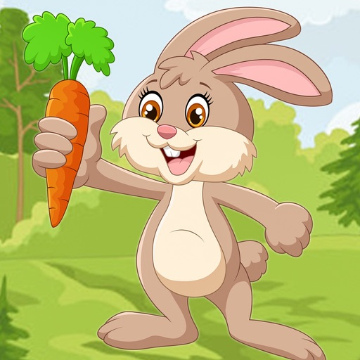 Jumping Bunny 2D - Dodge The Enemy, Tap to Hop and Bounce To Collect Carrots iOS App