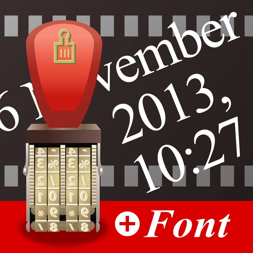 Photo date stamp font