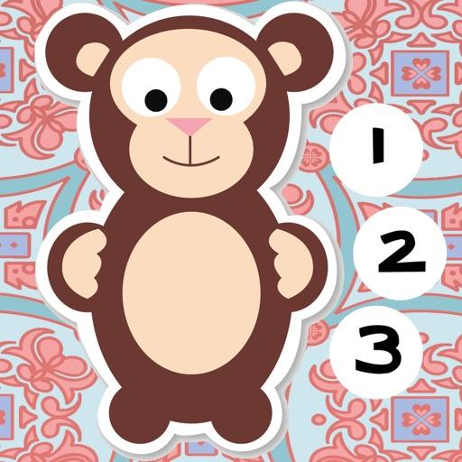 123計數嬰兒及兒童遊戲是免費的:有趣的玩與學數學的應用軟件!我的寶寶第一個號碼 - S&小動物