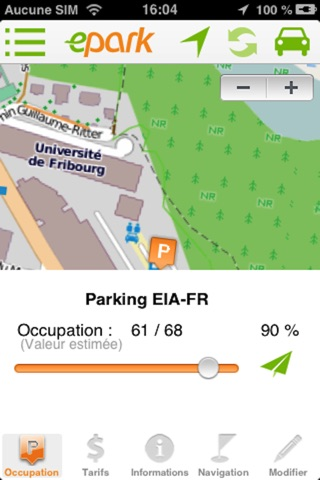 ePark  : Trouve-moi une place de parc en ville ! screenshot 2