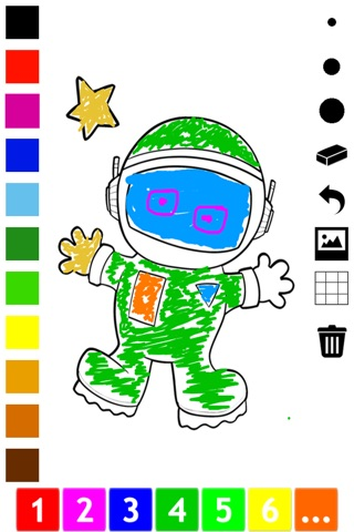 An Outer Space Coloring Book for Children: Learn to color astronaut, alien and ufo screenshot 1
