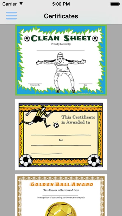 soccer pack 01 certificate creator by aspen tree media
