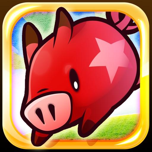 猪猪赛跑:FlickPig【趣味竞速】