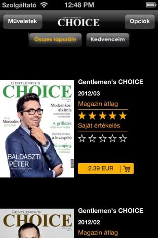 Gentlemen's CHOICE screenshot 1