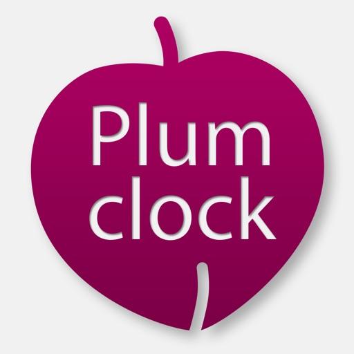 Plum Clock - Make a beautiful scene on your desktop with Plum Clock!!