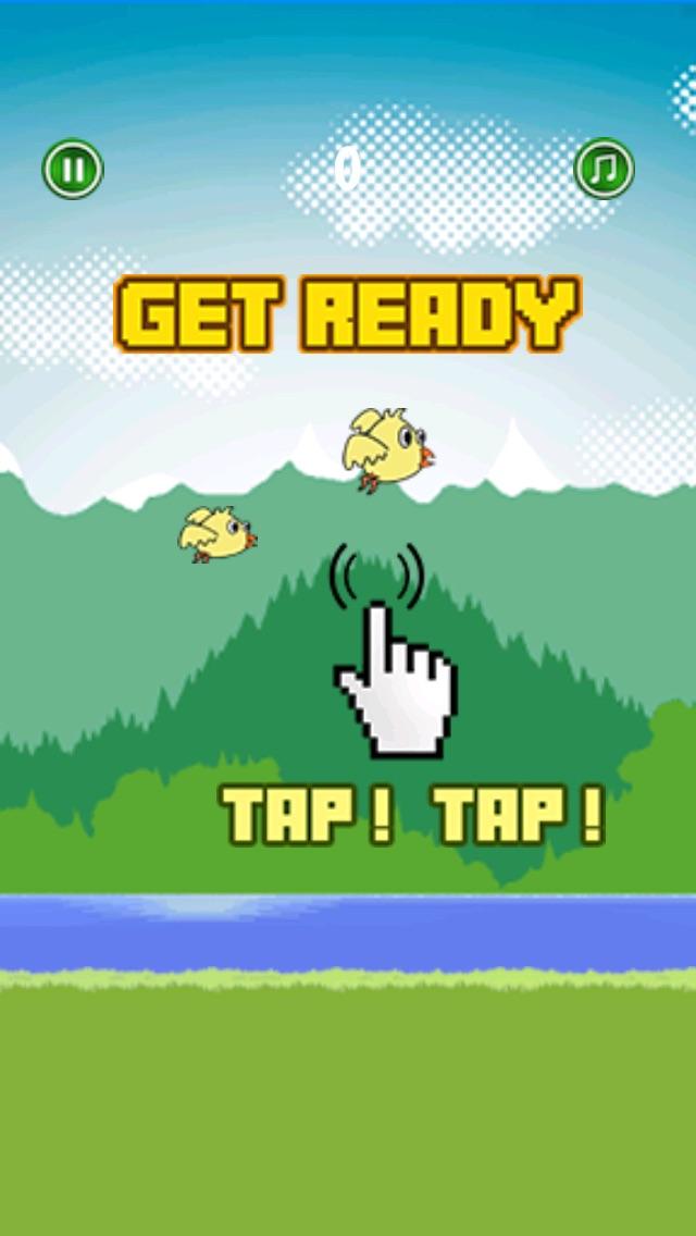 Happy Bird Flyer - Fun Birdie flying adventure Screenshot on iOS