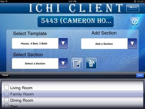 Screenshot of ICHI Client
