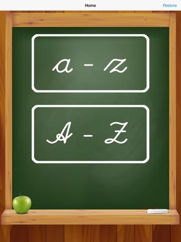 Написать курсивом: ЖЖ писать и буквы алфавита к школе для iPad