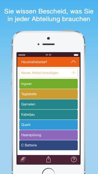 Organizy - Einkaufsliste Screenshot