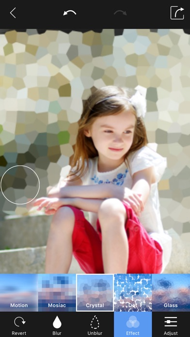 Screenshots of Blur Photo Background - Touch Blur Effect Editor for iPhone