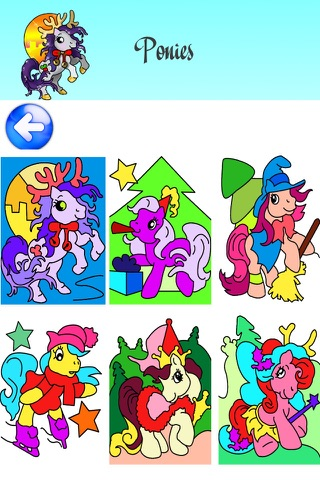 Christmas Coloring Pages for Girls & Boys with Santa HD screenshot 3