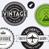 Vintage Stickers - Beautiful retro badges, labels and stamps for your pictures