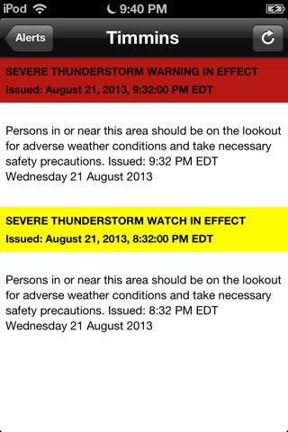 Weather Alert Ontario 2 screenshot 4