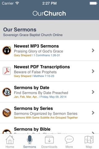 Sovereign Grace Baptist Church, Jacksonville NC screenshot 2